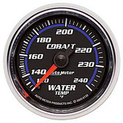 Autometer Cobalt Water Temp, -120 240`F, Mech, 2-1/16In.