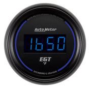 Autometer 2-1/16 In. E.G.T. Pyrometer 0-2000`F, Digital, Black