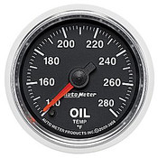 Autometer 2-1/16 In. Oil Temp, 140- 280`F, Fse, Gs