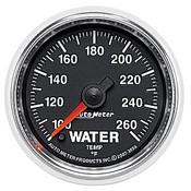 Autometer 2-1/16 In. Water Temp, 100- 260`F, Fse, Gs