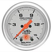 Autometer 2-1/16 In. Ulta-Lite Fuel Pressure Gauge 0-15psi