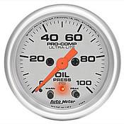 """Autometer 2-1/16"""" Oil Pressure Gauge w Peak Memory"""