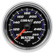 Autometer Cobalt Water Temp, 100-260`F 2In.