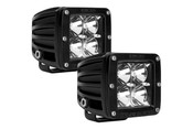 Rigid Lights  2X2 - Dually - LED Light - Amber - Flood - Set of 2