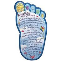 """Footprints for Children"" Plaque"