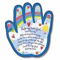 """Hold My Hand"" Shaped Plaque"