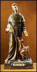 Saint Frances Statue