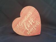 Wooden Heart -Grandma's Love