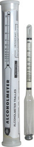 Alcoholmeter Tralles - Short 6.5 inches