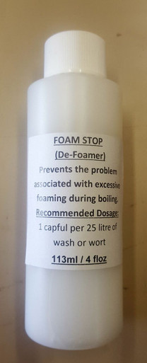 Foam Stop / Defoamer - Prevents the problem associated with excessive foaming during boiling your wort or wash.
