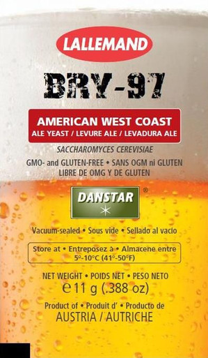 LALBREW® BRY-97 WEST COAST ALE YEAST - 11 gram Sachet