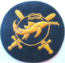 (92200050) WW2 German Navy 'Kleinkampfverbände der Kriegsmarine' Qualification Badge, Thiele & Stienert.