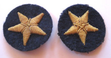 "WW2 German Navy Officers ""Seestern"" Celleon Cuff Sleeve Insignia, Pair"