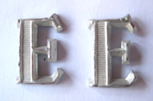 WW2 German Army Railway Construction Engineer Shoulder Board Ciphers, Pair. Rare!
