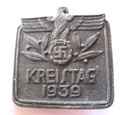 NSDAP 'Kreistag 1939' Event Badge 'Tinnie', RZM Marked with Pin Back