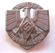 1937 Hitler Youth 'Jugenfest' Event Badge 'Tinnie', Silver, With Pin Back, silver wash or power-coat finish. (1)