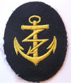 WW2 German Navy Radioman PO Career Sleeve Rating Patch, Blue