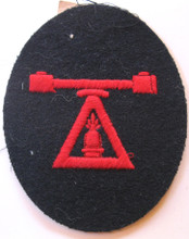 WW2 German Navy Coast Artillery Rangefinder Sleeve Rating Patch With Tag