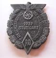 NSDAP 'Reichstagung der AO - Stuttgart 1937' Event Badge 'Tinnie', Rare!