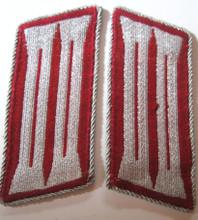 WW2 German Gemeindenpolizei Municipal Police Enlisted BeVo Collar Tabs, Pair