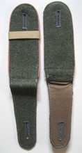 WW2 German Army Panzer / Panzerabwehr M-40 Shoulder Straps, Pair. The straps are made of two or more shades of field gray wool with a mid-late war paler pink rayon piping.   Clean with only minor age in Condition II+