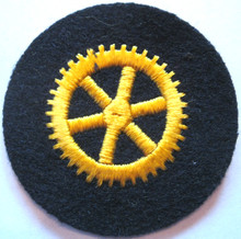 WW2 German Navy Engine Personnel Career Wool Sleeve Insignia