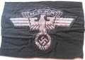 WW2 German NSKK Officers Flat Wire BeVo Cap / Sleeve Eagle