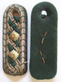 WW2 German Police NCO shoulder boards for the State of Saxony, Circa 1936, Pair. Tongue missing.