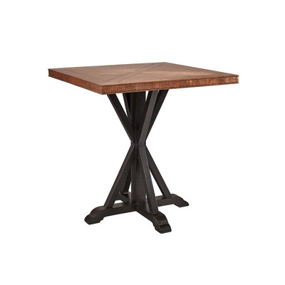 hammered copper pub table