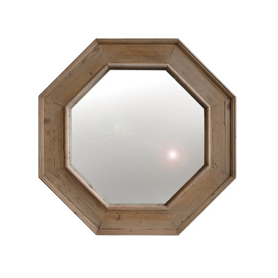 pine wood wall mirror
