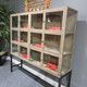 oak display cabinet bookcase