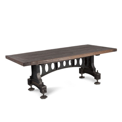 vintage industrial iron dining table