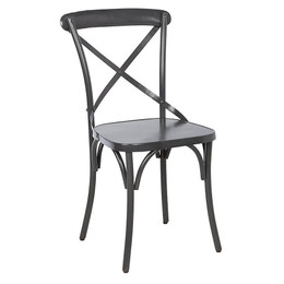 metal cross back chair