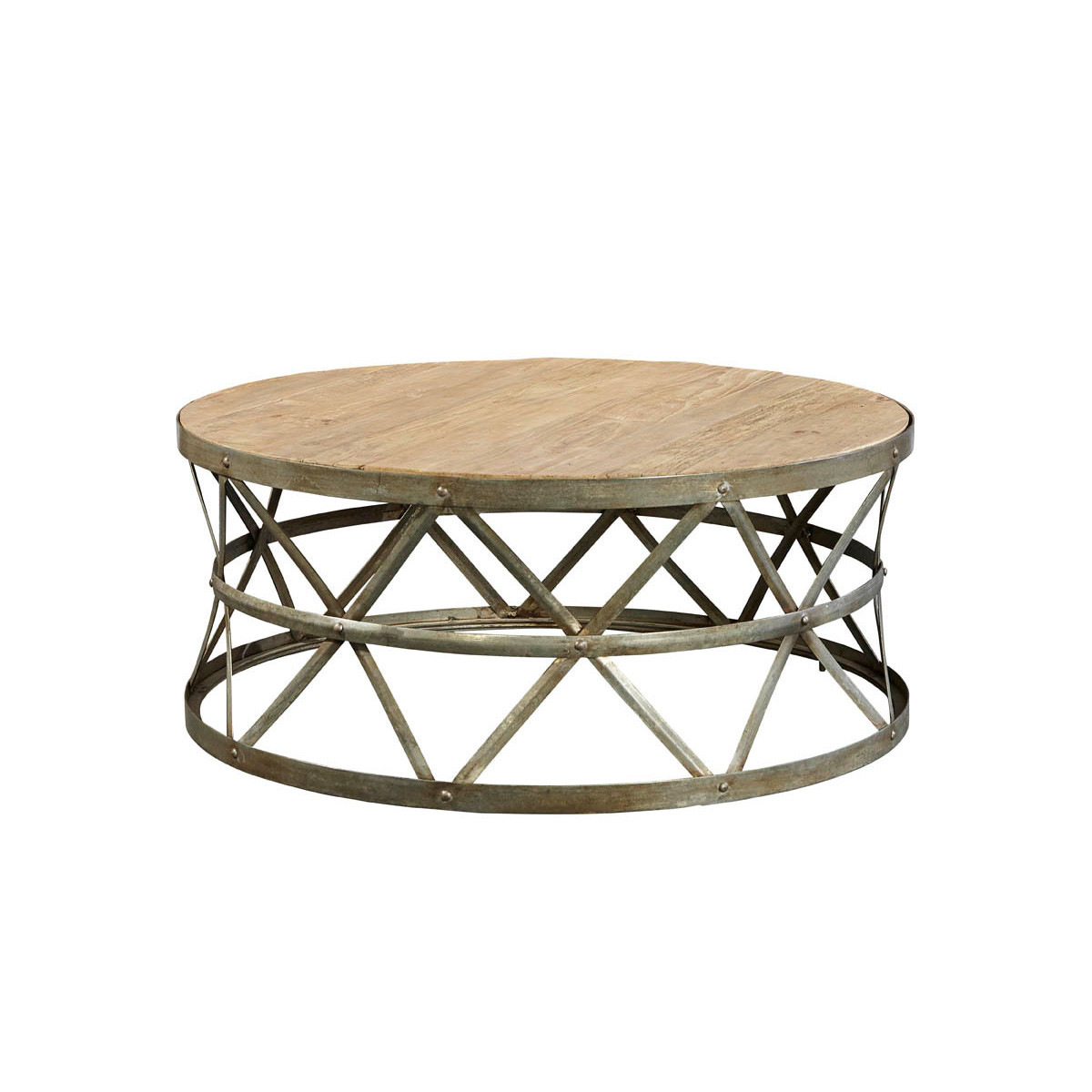 Picture of: Vintage Industrial Reclaimed Wood Coffee Table