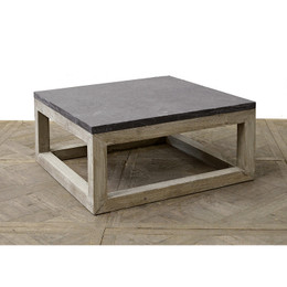 wood and stone coffee table