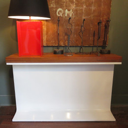 industrial iron beam console