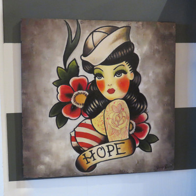 tattoo hope wall art painting