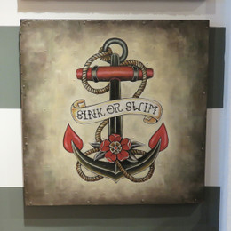 anchor tattoo wall painting