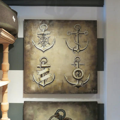traditional anchor tattoo painting