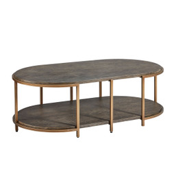 wood oak oval coffee table