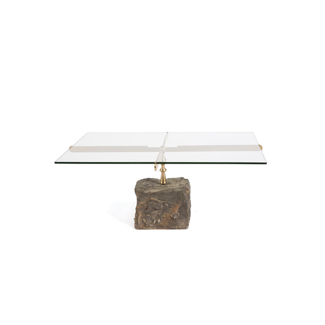 Picture of: Glass Stone Coffee Table