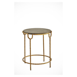 round stone side table