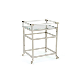 Polished Nickel Bar Cart