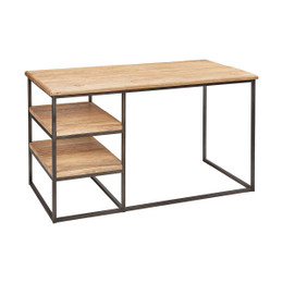 Metal Frame Elm Desk