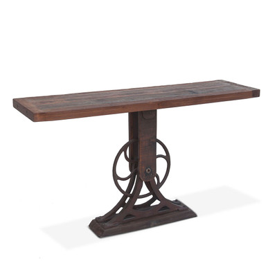 industrial iron console table