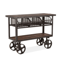 vintage industrial factory cart