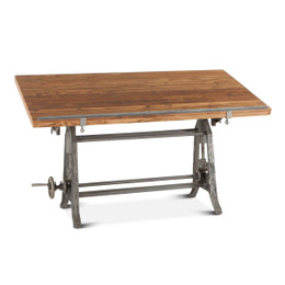 vintage industrial drafting table desk