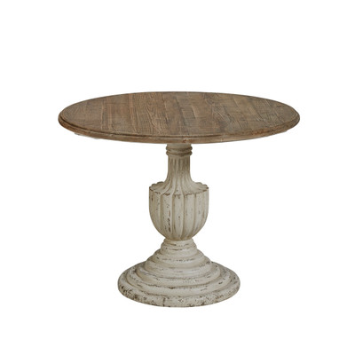 wood pedestal dining table
