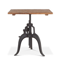 vintage adjustable crank table