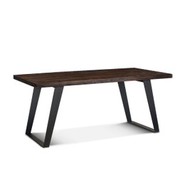 modern industrial dining table